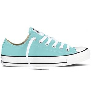 Turquoise Converse Allstar Low Tops